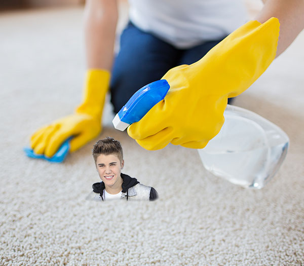 Once you have Beibers in your carpet, you just can't get them out.